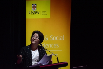 Associate Professor Limin Mao speaking at Sex Lecture 2019