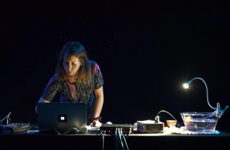Alexandra Spence mixing music
