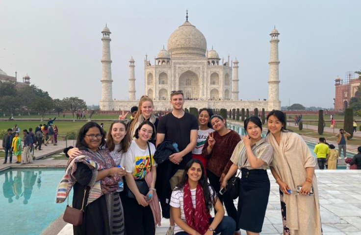 Taj Mahal Exchange students