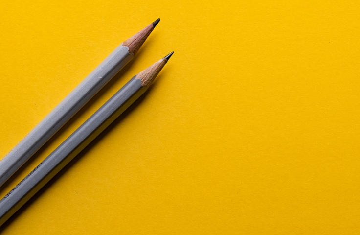 two pencils on a table