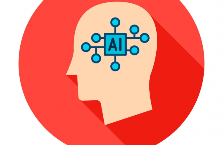 icon of head with AI