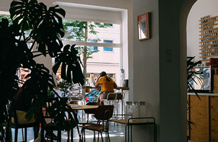Modern cafe setting