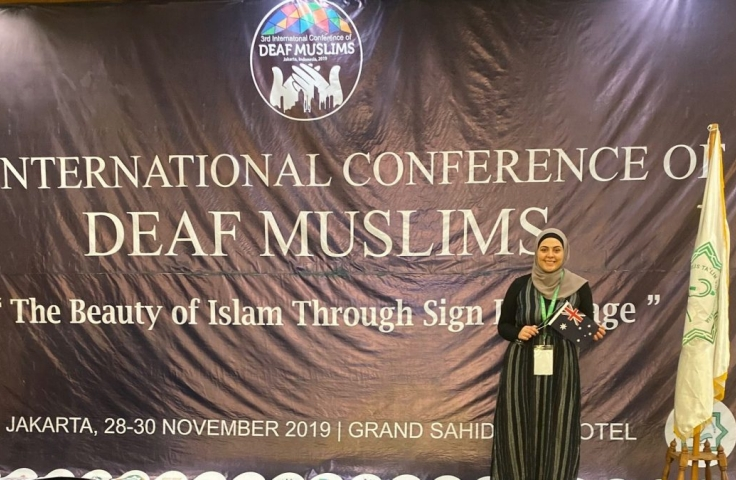 Ayah Wehbe at the International Conference of Deaf Muslims