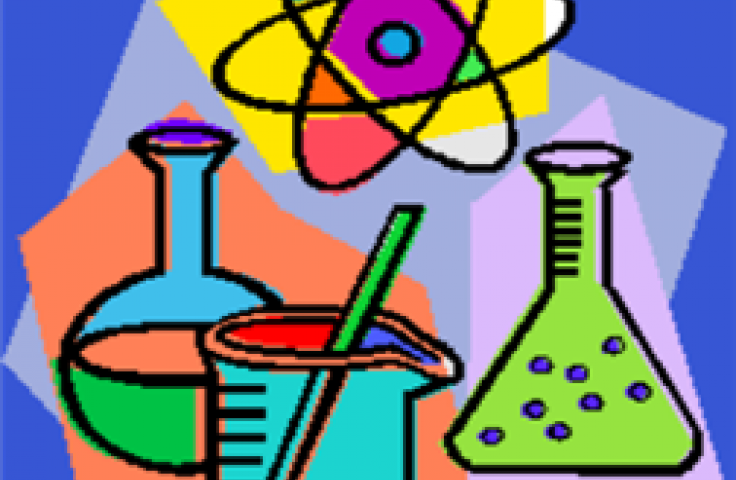 cartoon graphic of science equipment